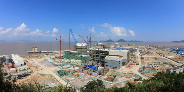 Sanmen AP1000 plant under construction in China