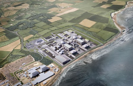 Impression of the Hinkley C development. Nuclear remains unbeatable for massive, reliable clean energy on a minimal footprint