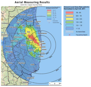 Radiation map from May 2011